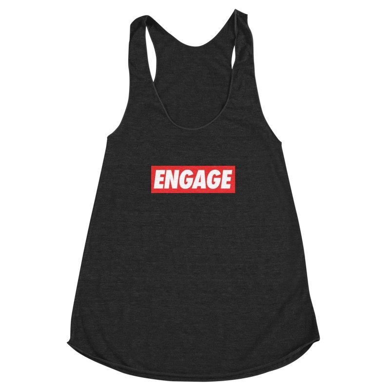 Engage. Women's Racerback Triblend Tank by Softwear