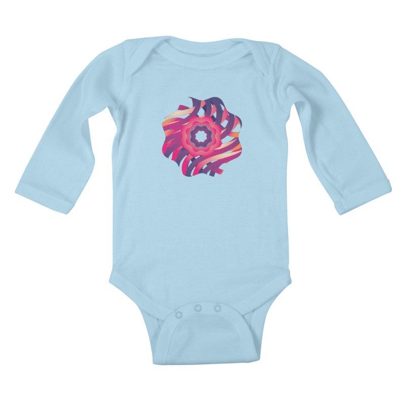 Infinite Flowers Kids Baby Longsleeve Bodysuit by Softwear