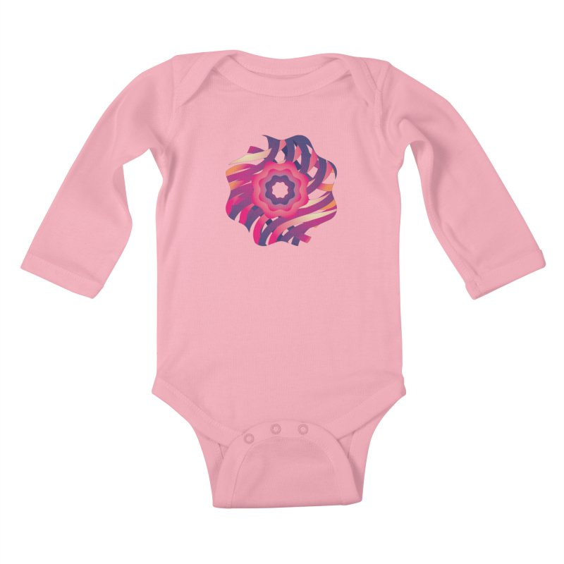 Infinite Flowers Kids Baby Longsleeve Bodysuit by Softwear