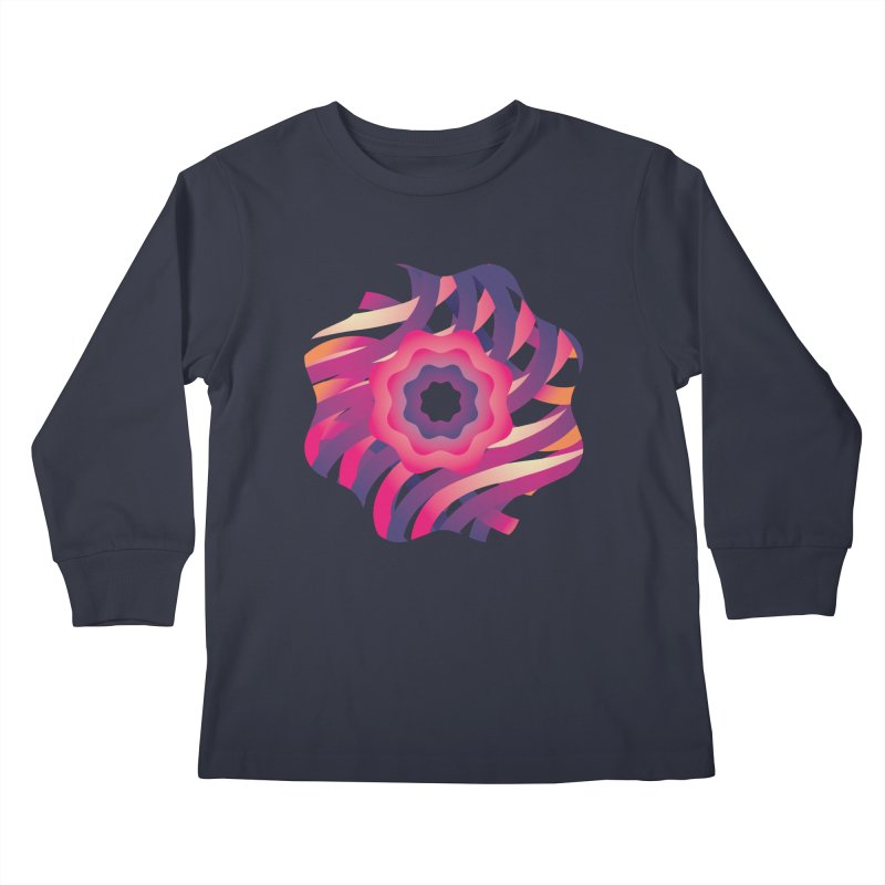 Infinite Flowers Kids Longsleeve T-Shirt by Softwear