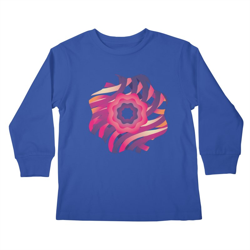 Infinite Flowers Kids Longsleeve T-Shirt by Softwear