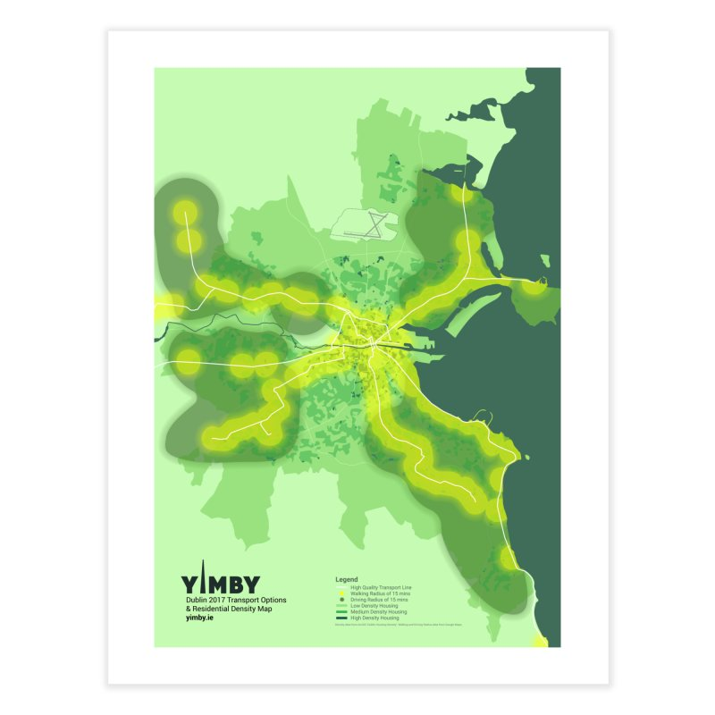 Dublin's Transport Network Home Fine Art Print by Softwear