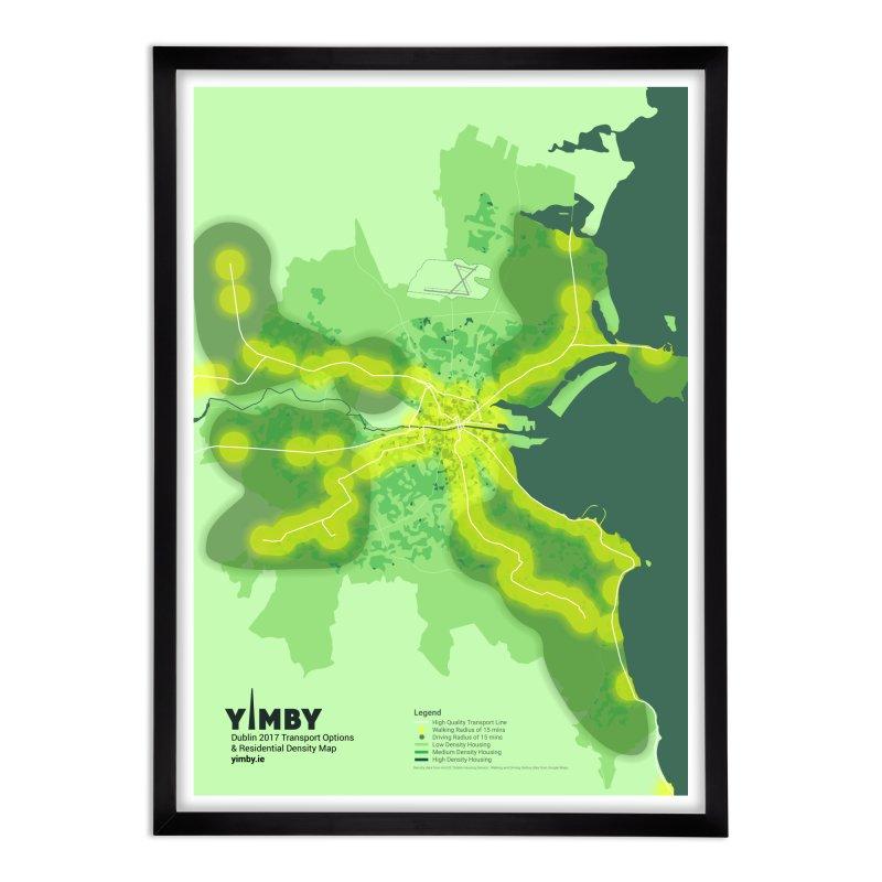 Dublin's Transport Network Home Framed Fine Art Print by Softwear