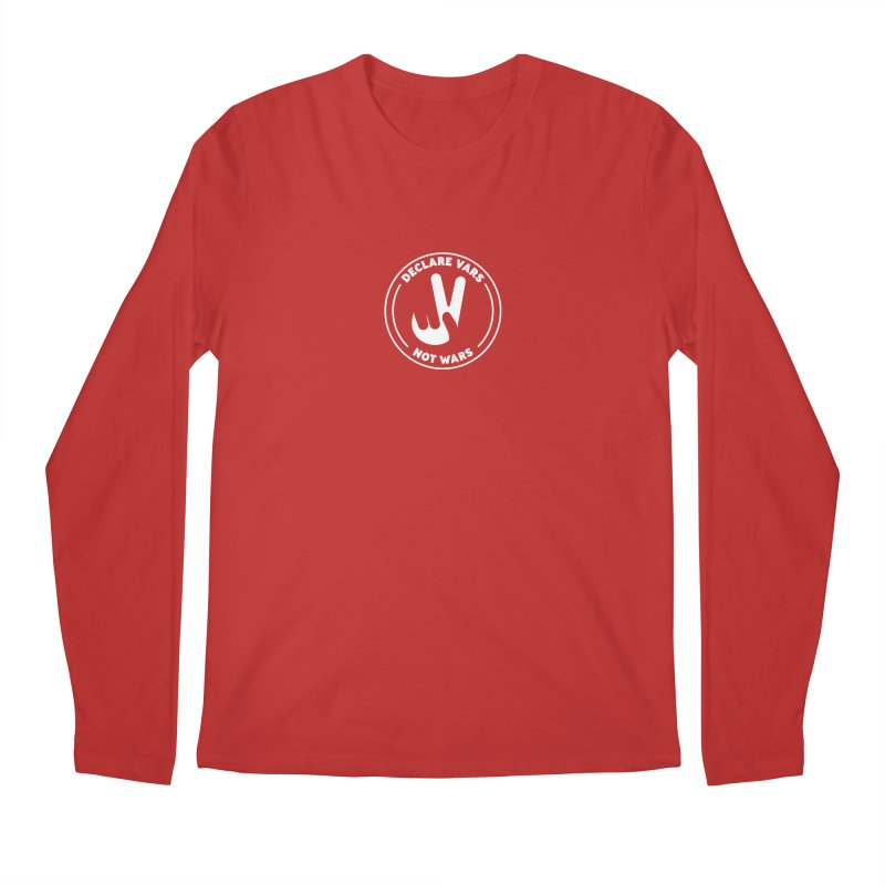 Declare Vars not Wars (White) Men's Regular Longsleeve T-Shirt by Softwear