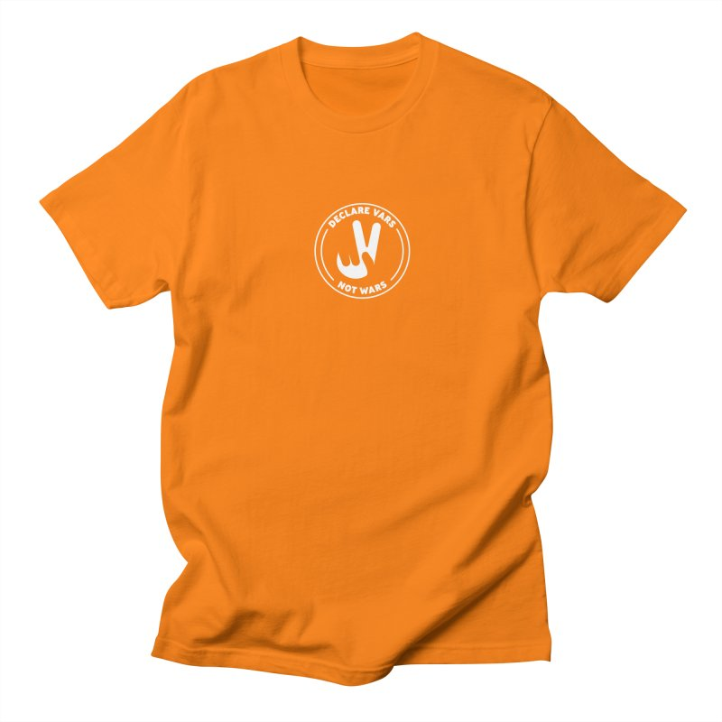 Declare Vars not Wars (White) Women's Regular Unisex T-Shirt by Softwear