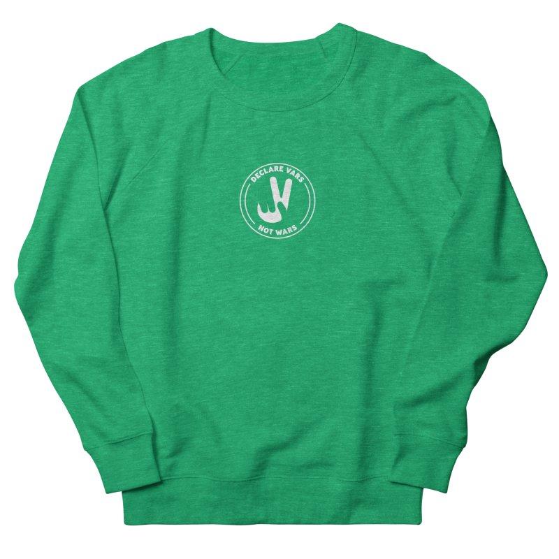 Declare Vars not Wars (White) Men's French Terry Sweatshirt by Softwear
