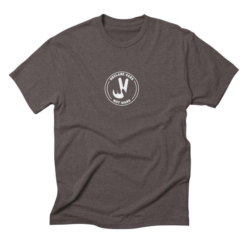 Declare Vars not Wars (White) Men's Triblend T-Shirt by Softwear