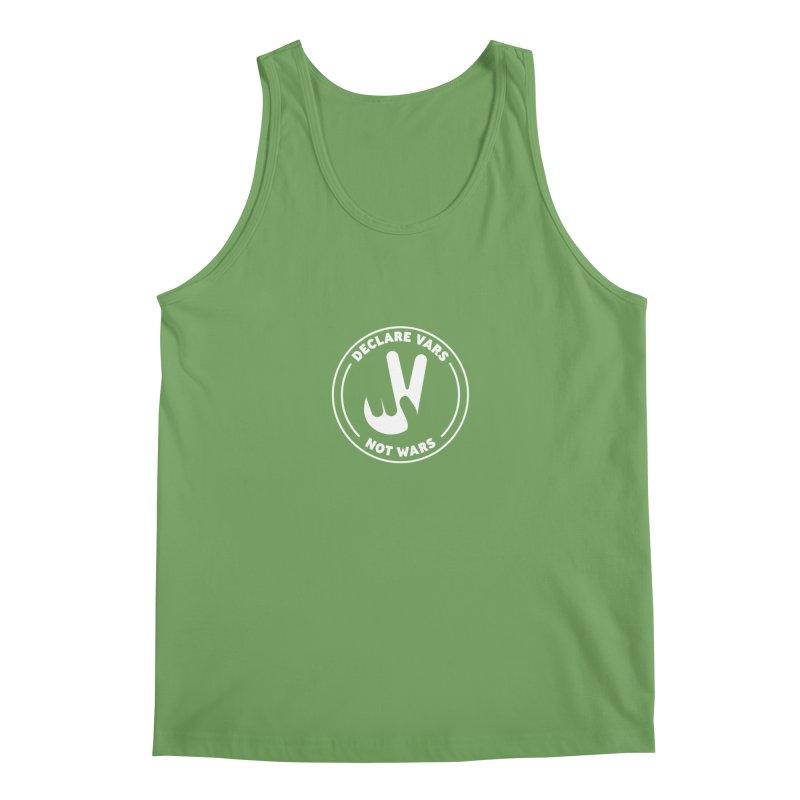 Declare Vars not Wars (White) Men's Tank by Softwear