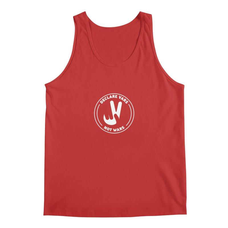 Declare Vars not Wars (White) Men's Regular Tank by Softwear