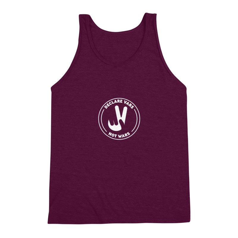 Declare Vars not Wars (White) Men's Triblend Tank by Softwear