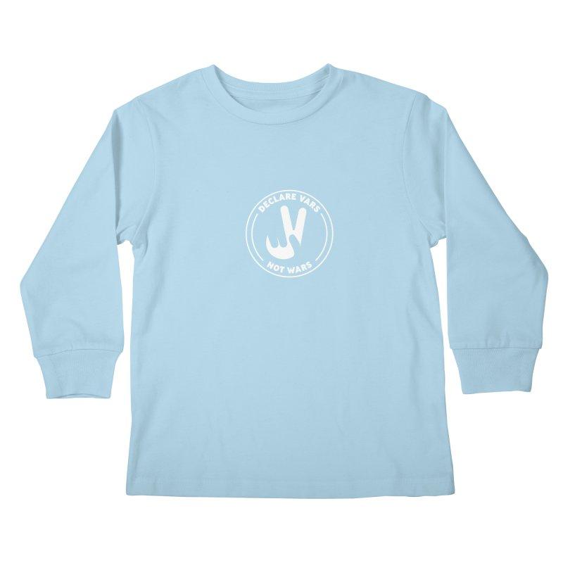 Declare Vars not Wars (White) Kids Longsleeve T-Shirt by Softwear