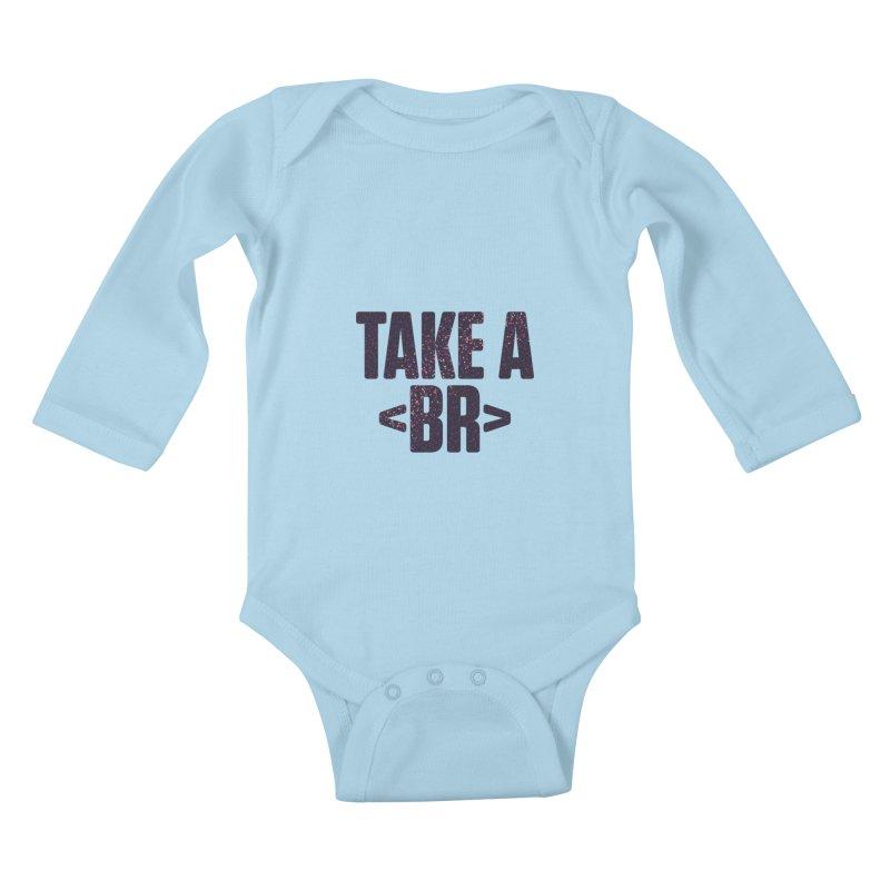 Take a Break (Dark) Kids Baby Longsleeve Bodysuit by Softwear