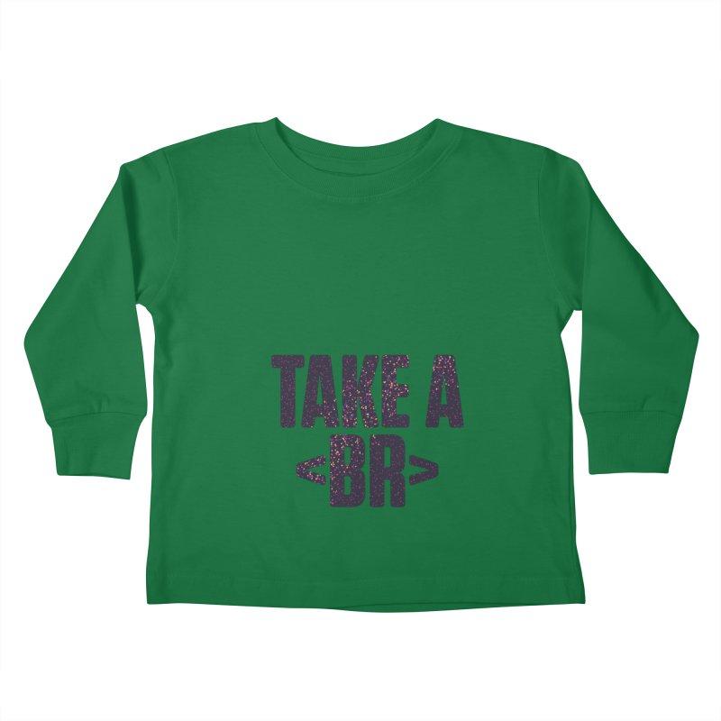 Take a Break (Dark) Kids Toddler Longsleeve T-Shirt by Softwear