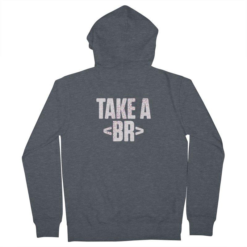 Take A Break (Light) Men's French Terry Zip-Up Hoody by Softwear