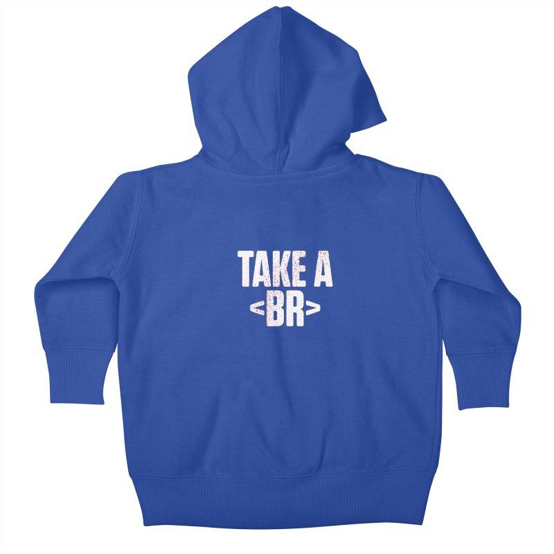 Take A Break (Light) Kids Baby Zip-Up Hoody by Softwear