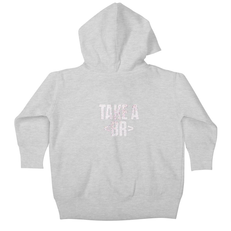 Take A Break (Light) Kids Baby Zip-Up Hoody by Softwear