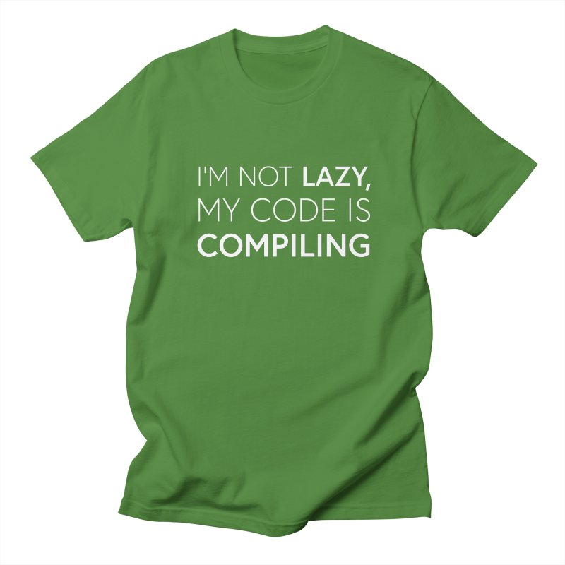 I'm Not Lazy, My Code is Compiling Men's Regular T-Shirt by Softwear