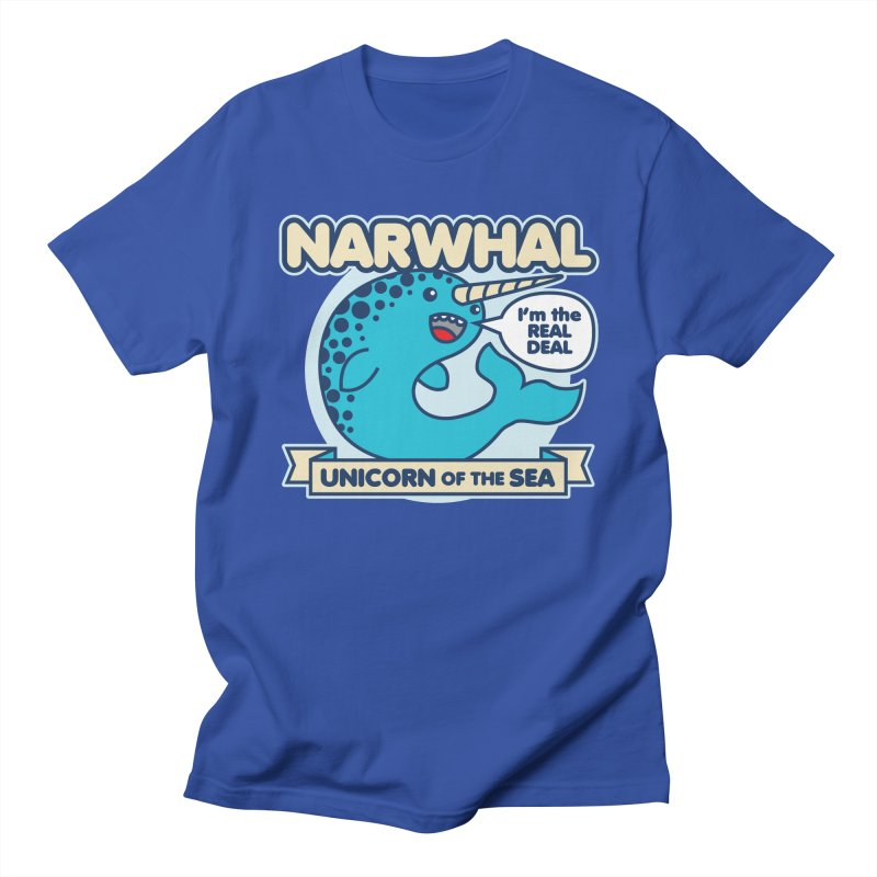 Narwhal in Men's T-shirt Royal Blue by detourshirts's Artist Shop