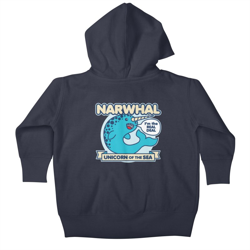 Narwhal Kids Baby Zip-Up Hoody by detourshirts's Artist Shop