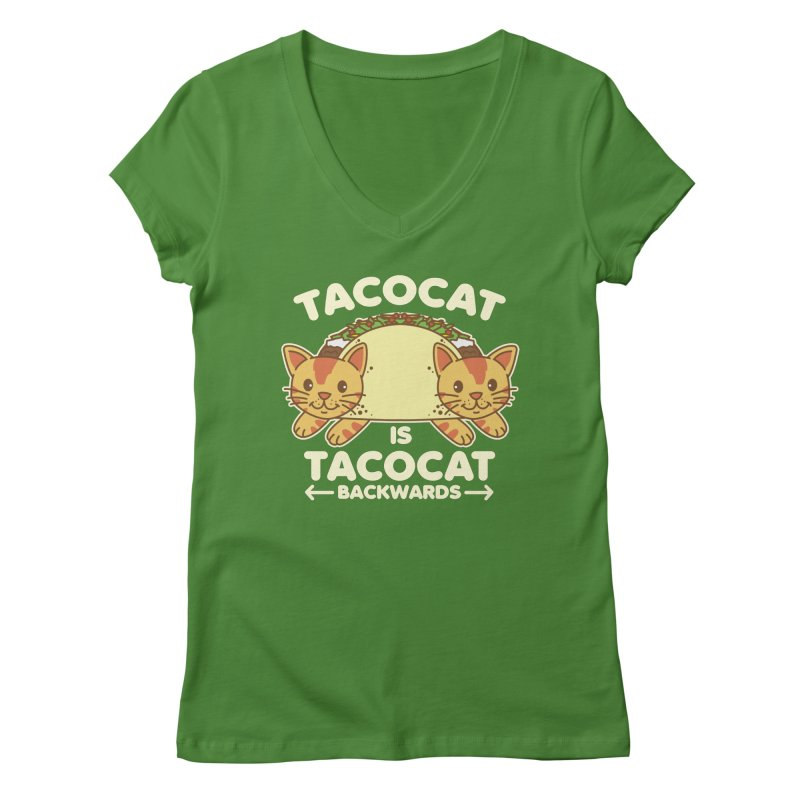 Tacocat Women's V-Neck by Detour Shirt's Artist Shop