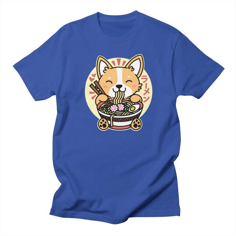 Corgi Eating Ramen Women's Regular Unisex T-Shirt by Detour Shirt's Artist Shop