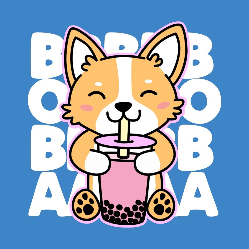 Corgi Drinking Boba Tea Men's T-Shirt by Detour Shirt's Artist Shop