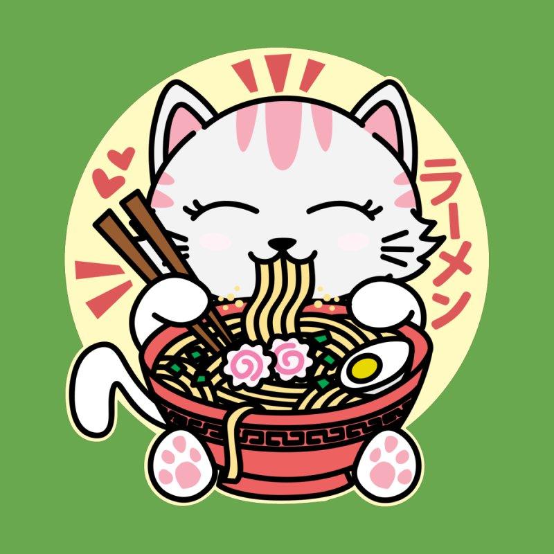 Cat Eating Ramen Kids T-Shirt by Detour Shirt's Artist Shop