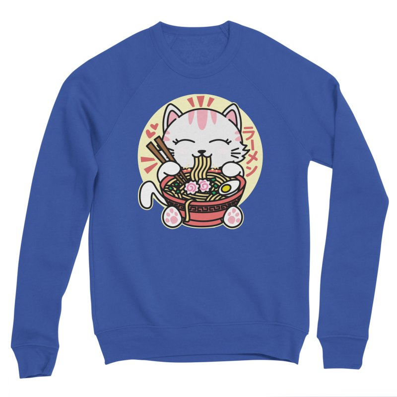 Cat Eating Ramen Men's Sponge Fleece Sweatshirt by Detour Shirt's Artist Shop