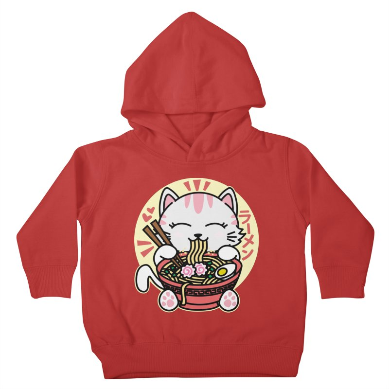 Cat Eating Ramen Kids Toddler Pullover Hoody by Detour Shirt's Artist Shop