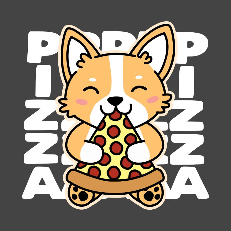 Corgi Eating Pizza Cute Dog Kawaii Food Men's T-Shirt by Detour Shirt's Artist Shop