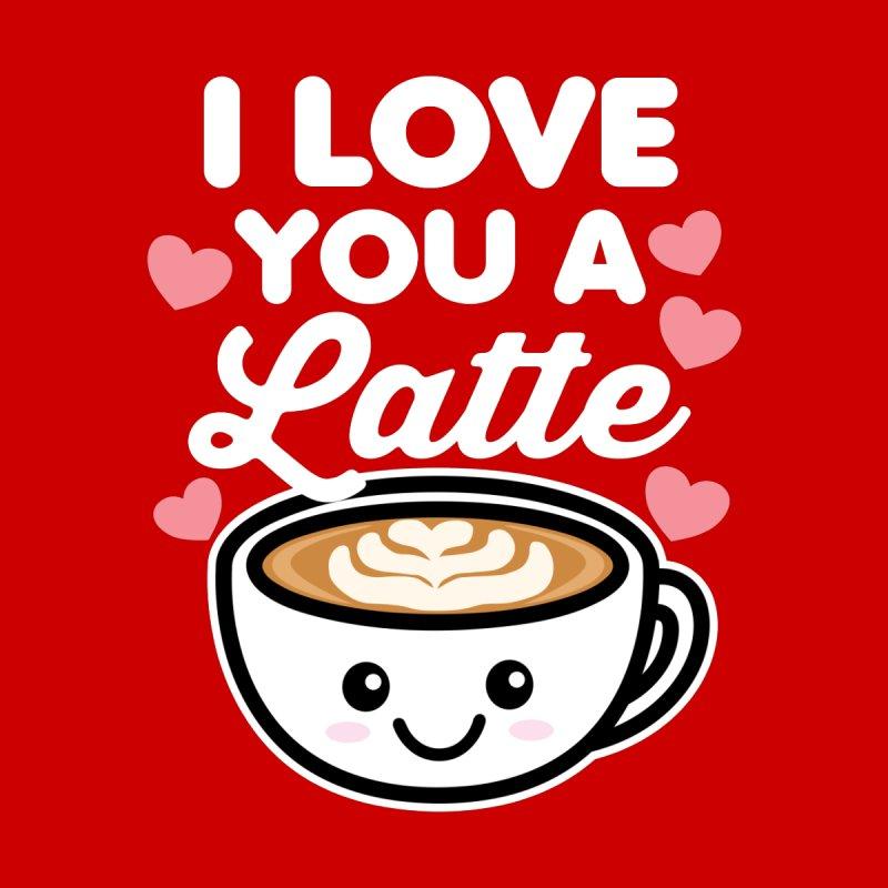 I Love You A Latte Men's Pullover Hoody by Detour Shirt's Artist Shop