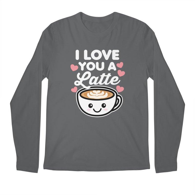 I Love You A Latte Men's Longsleeve T-Shirt by Detour Shirt's Artist Shop