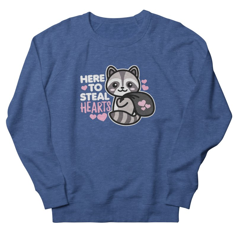 Here to Steal Hearts Cute Kawaii Racoon Men's Sweatshirt by Detour Shirt's Artist Shop