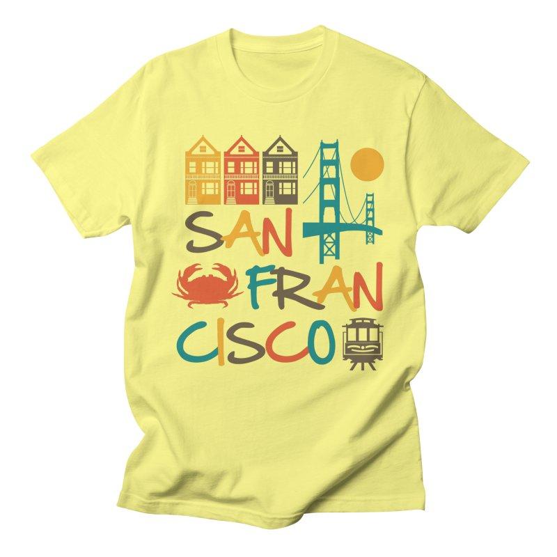 San Francisco Silhouette Icons Colorful Men's T-Shirt by Detour Shirt's Artist Shop