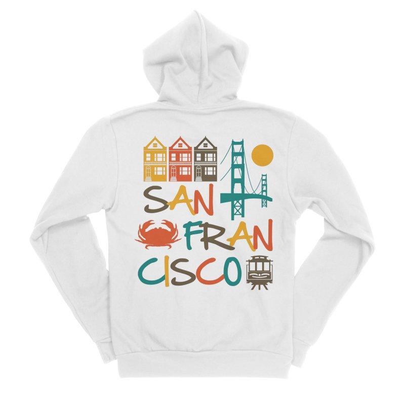 San Francisco Silhouette Icons Colorful Men's Zip-Up Hoody by Detour Shirt's Artist Shop