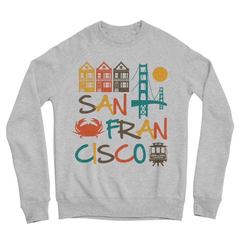 San Francisco Silhouette Icons Colorful Women's Sweatshirt by Detour Shirt's Artist Shop