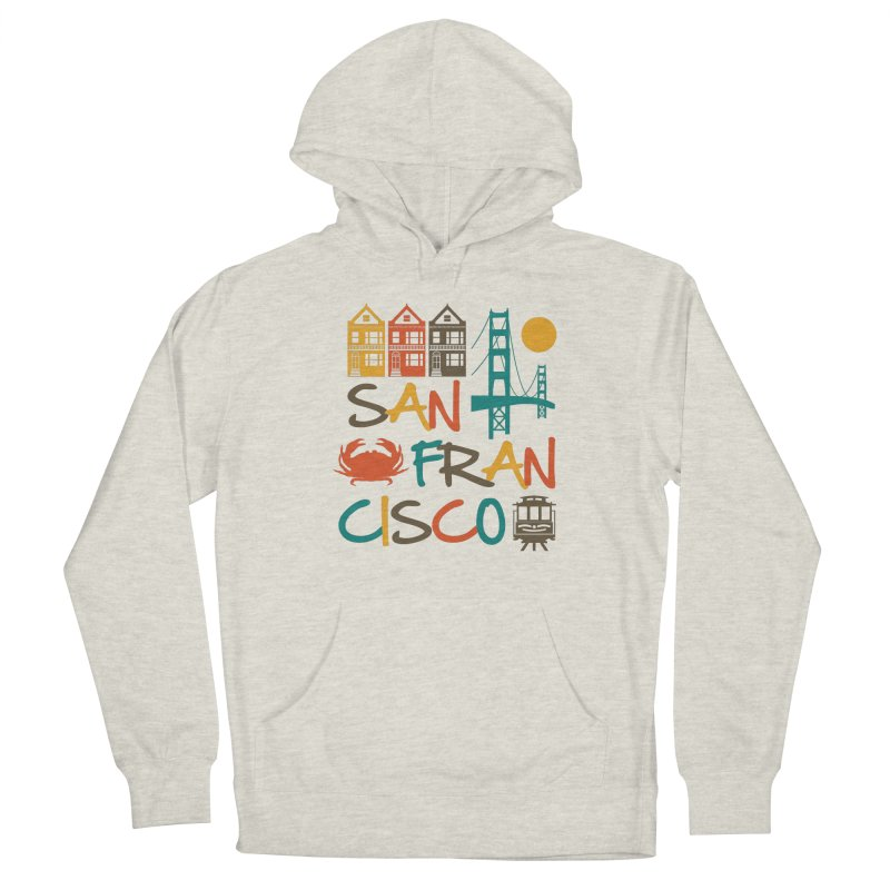 San Francisco Silhouette Icons Colorful Women's Pullover Hoody by Detour Shirt's Artist Shop