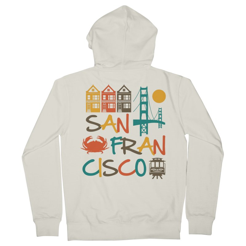 San Francisco Silhouette Icons Colorful Women's Zip-Up Hoody by Detour Shirt's Artist Shop