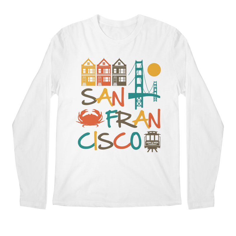 San Francisco Silhouette Icons Colorful Men's Longsleeve T-Shirt by Detour Shirt's Artist Shop