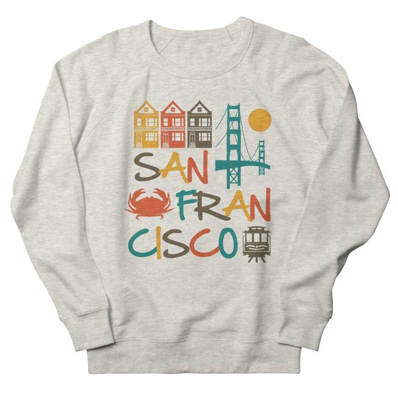 San Francisco Silhouette Icons Colorful Men's Sweatshirt by Detour Shirt's Artist Shop