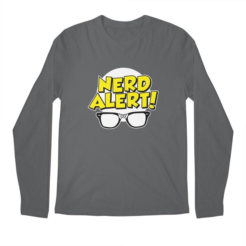 Nerd Alert Funny Glasses Smart Saying Men's Longsleeve T-Shirt by Detour Shirt's Artist Shop