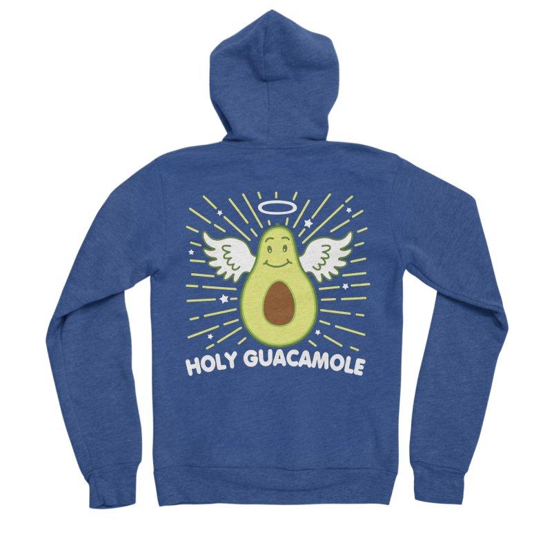 Holy Guacamole Avocado Kawaii Angel Men's Zip-Up Hoody by Detour Shirt's Artist Shop