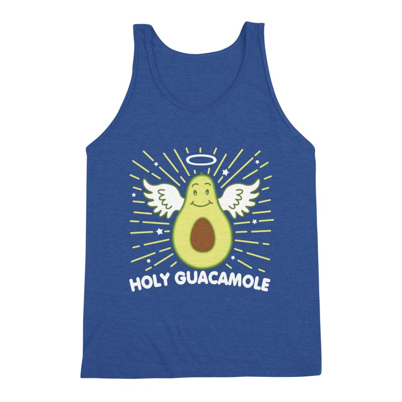 Holy Guacamole Avocado Kawaii Angel Men's Tank by Detour Shirt's Artist Shop