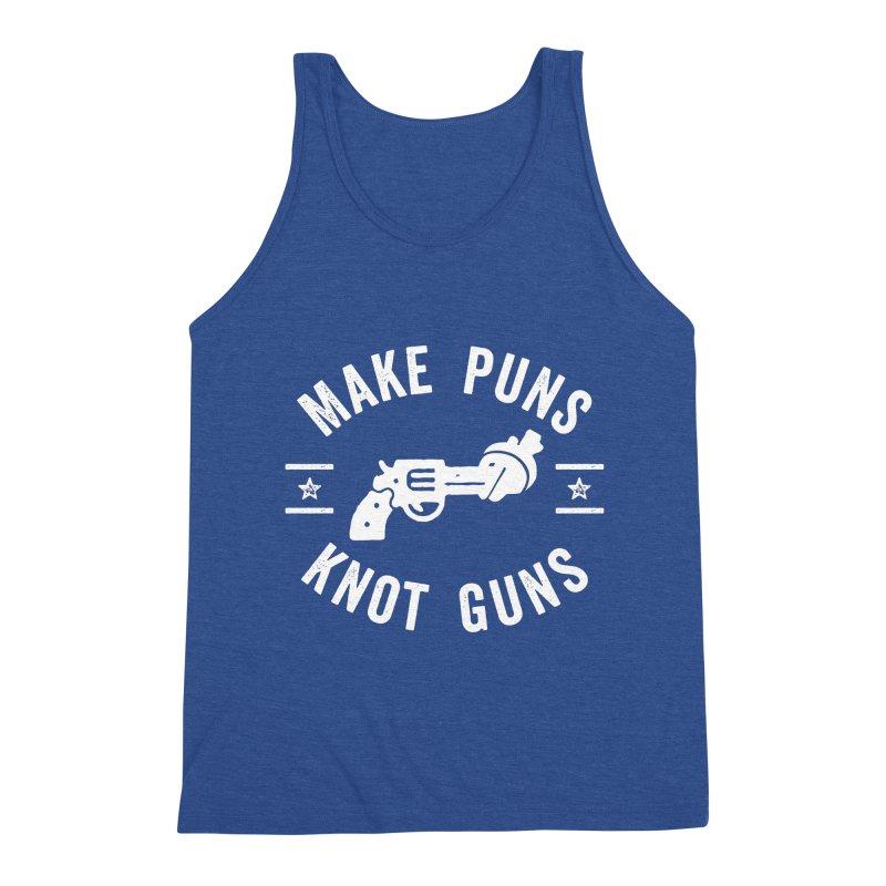 Make Puns Not Guns Funny Gun Control Men's Tank by Detour Shirt's Artist Shop