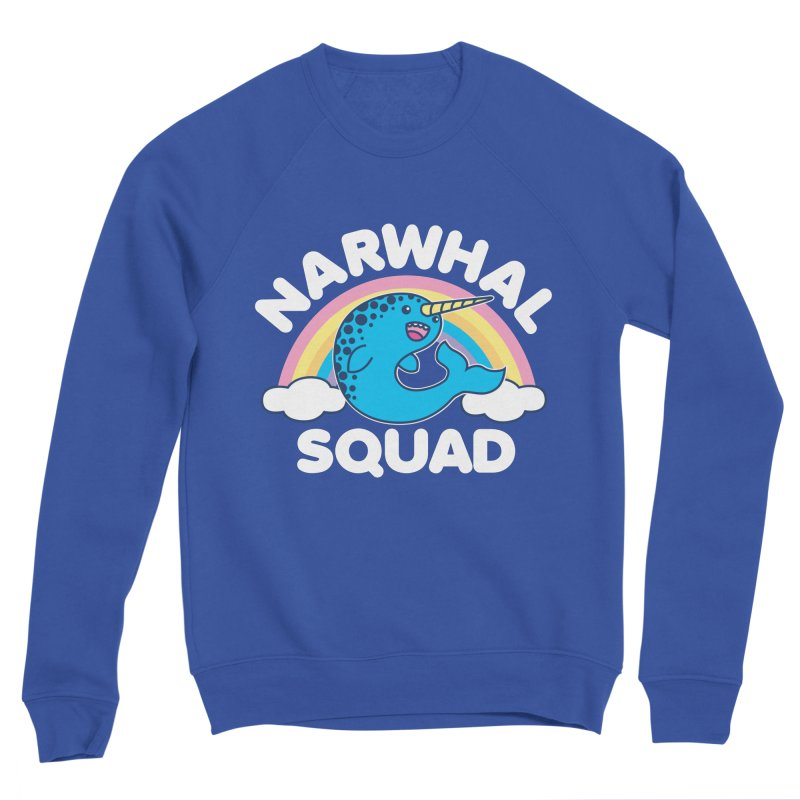 Narwhal Squad Cute Kawaii Unicorn Rainbow Women's Sweatshirt by Detour Shirt's Artist Shop