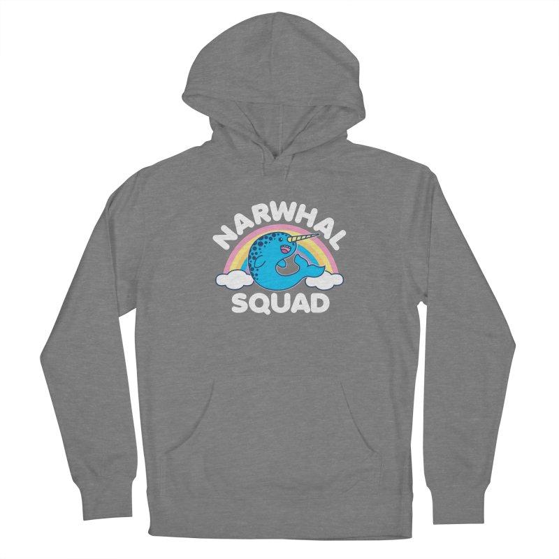 Narwhal Squad Cute Kawaii Unicorn Rainbow Women's Pullover Hoody by Detour Shirt's Artist Shop
