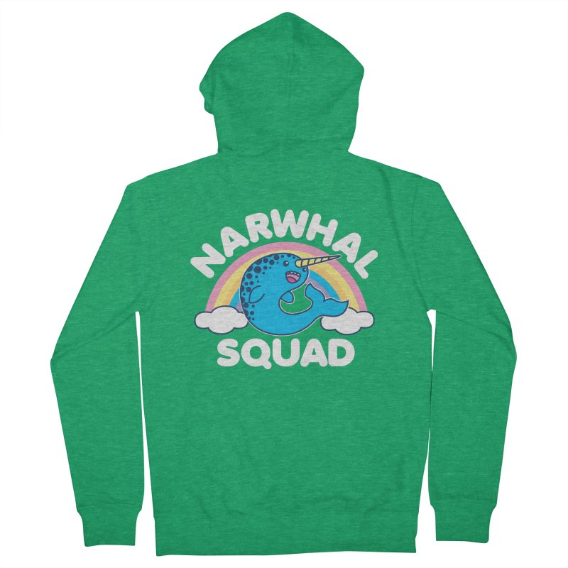 Narwhal Squad Cute Kawaii Unicorn Rainbow Women's Zip-Up Hoody by Detour Shirt's Artist Shop