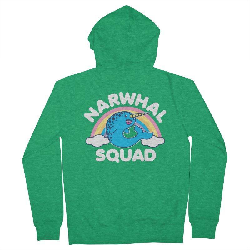 Narwhal Squad Cute Kawaii Unicorn Rainbow Men's Zip-Up Hoody by Detour Shirt's Artist Shop
