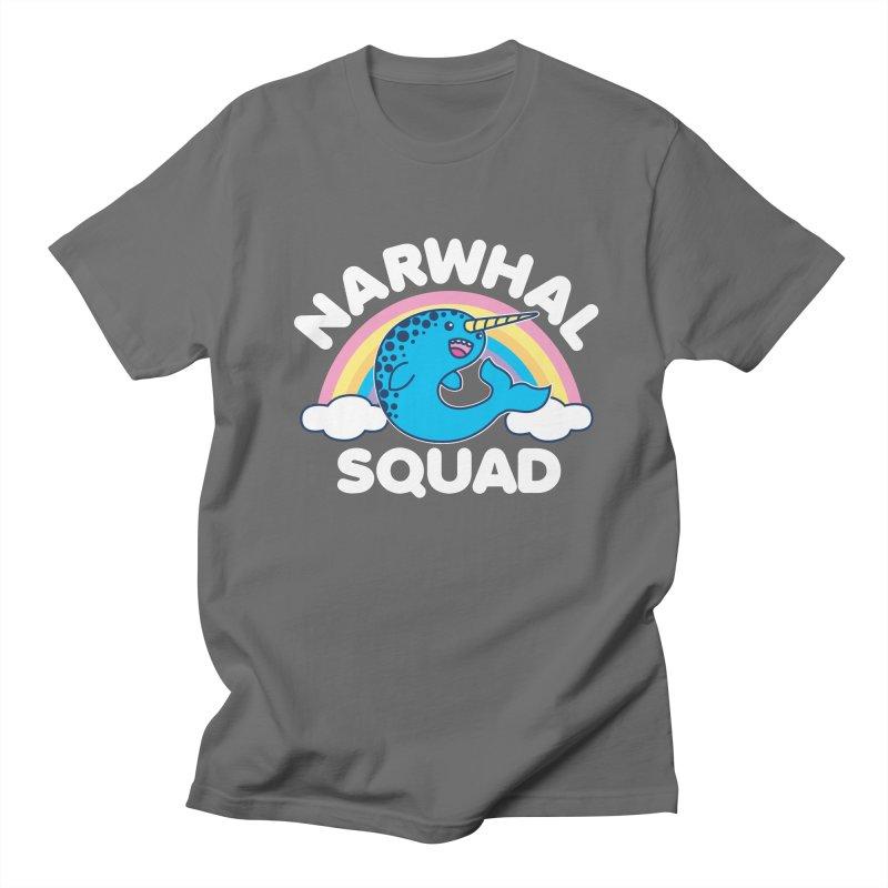 Narwhal Squad Cute Kawaii Unicorn Rainbow Men's T-Shirt by Detour Shirt's Artist Shop