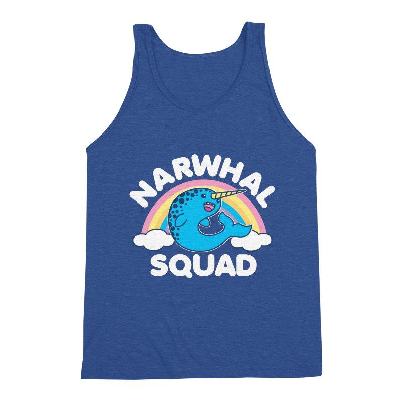 Narwhal Squad Cute Kawaii Unicorn Rainbow Men's Tank by Detour Shirt's Artist Shop